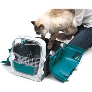 CAISSE DE TRANSPORT CAT IT Cage de transport Cabrio - Bleu turquoise -