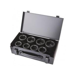 DOUILLE COFFRET 8 DOUILLES CHOC 6 PANS 26-38mm 3/4
