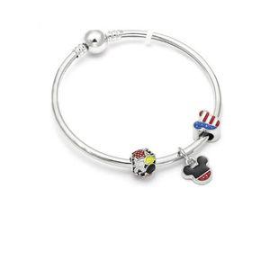 BRACELET - GOURMETTE Bracelet Style Pandora Charm Disney Argent 925