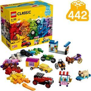 ASSEMBLAGE CONSTRUCTION LEGO® Classic 10715 La boîte de briques et de roue