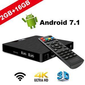 RÉCEPTEUR - DÉCODEUR   Smart TV Box Android 7.1 - W2 Dernière Amlogic S90