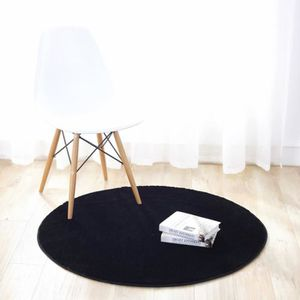 TAPIS Tapis salon rond 110cm decoration bureau couloir b