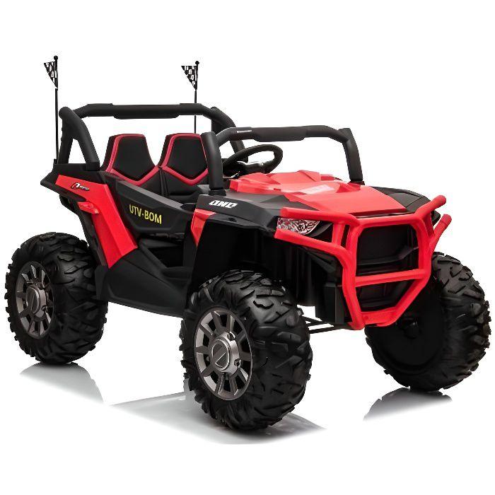 ATAA MAX Buggy Utv 4x4 pour enfants 2 places Rouge - Voiture Buggy électrique pour enfant avec batterie et télécommande