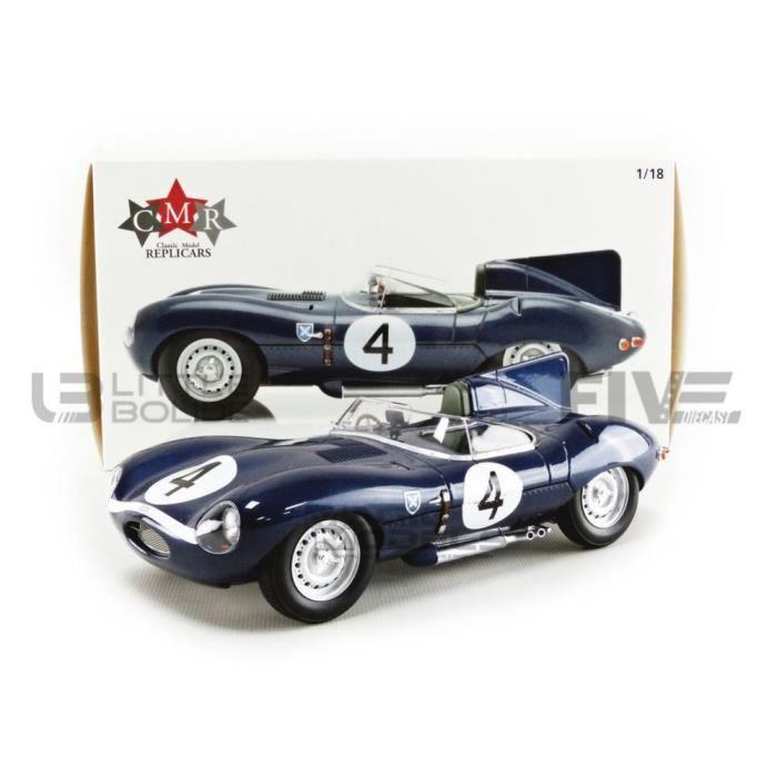 Voiture Miniature de Collection - CMR 1/18 - JAGUAR Type D - Winner Le Mans 1956 - Blue - CMR142 118000000034