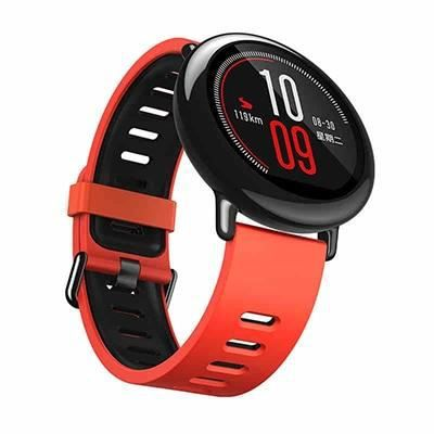Montre connectée,Bracelet de montre en Silicone pour Xiaomi Haylou solaire LS05 bande 22mm Bracelet intelligent - Type Red black