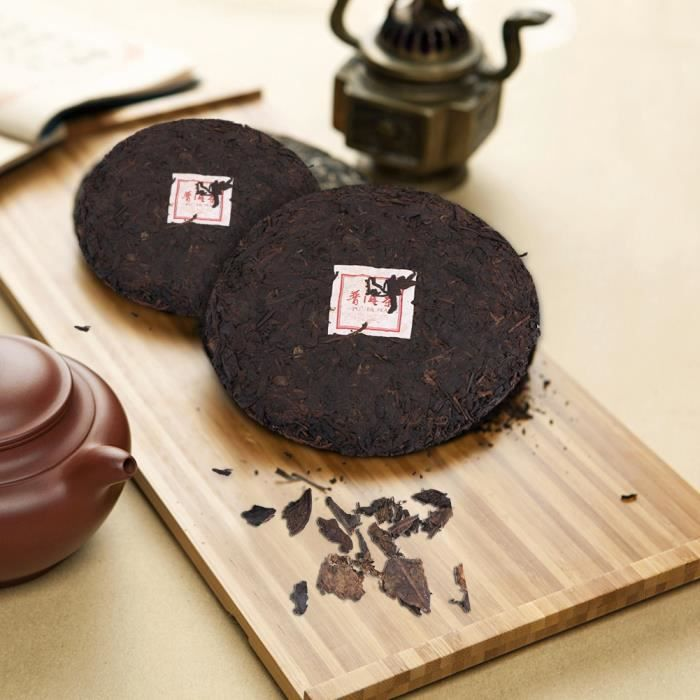 Gâteau au thé cuit avec du Puer Naturel Premium Santé Naturelle du Yunnan Chinois 357g -ROS
