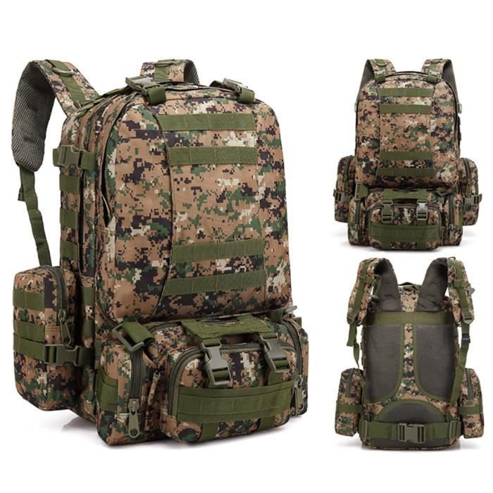 55L Molle Outdoor Bag Camping Randonnée Trekking Sac à dos BRF90606009I_7274