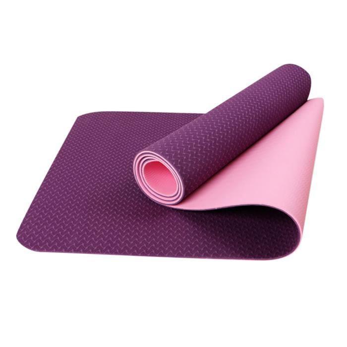 Tapis de yoga avec sac en maille 6 mm d'épaisseur antidérapant Gym exercice Fitness Pilates yujian2763
