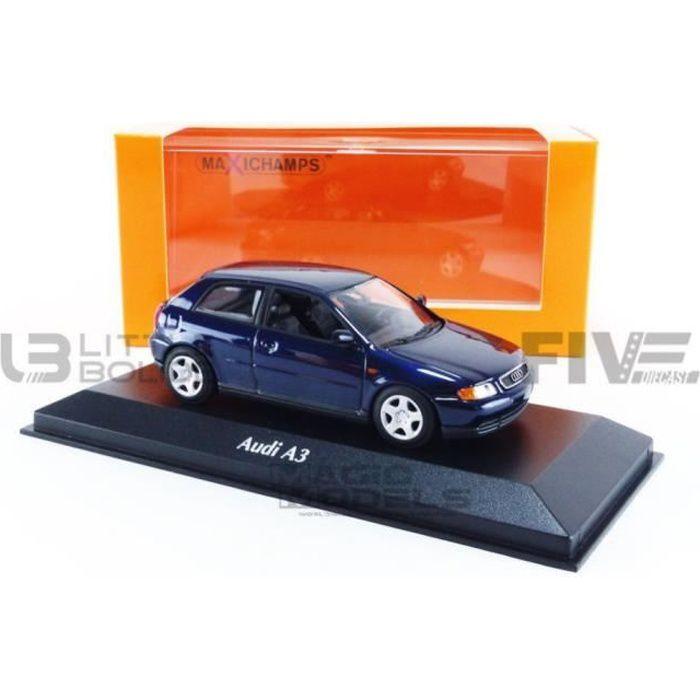 Voiture Miniature de Collection - MINICHAMPS 1/43 - AUDI A3 - 1996 - Blue Metallic - 940015100