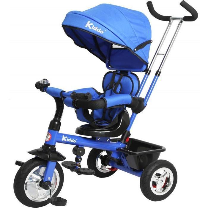 Kiddo Trike 4-en-1 Design Intelligent Amélioré avec des Fonctionnalités Supplémentaires - Bleu