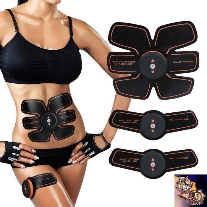 Ceinture Abdominale, Ailida Electrostimulateur Musculation Abdominaux Bras Cuisses Appareil Fitness pour Hommes Femmes Pr20132