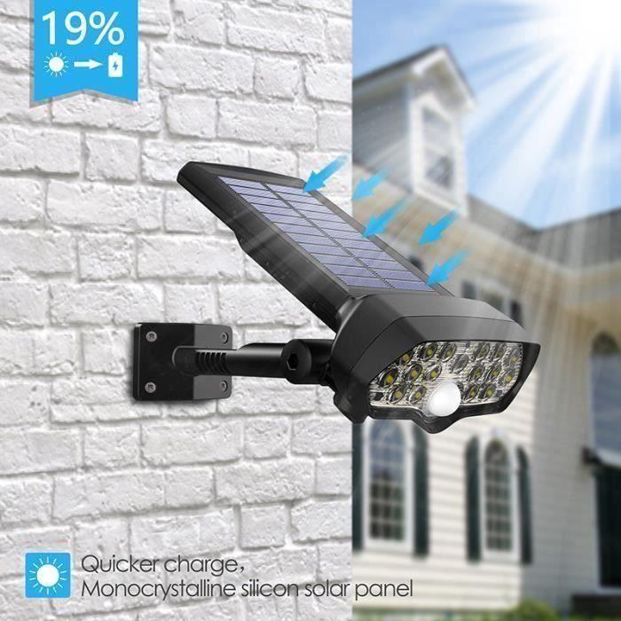 6V LED Lampe Solaire Mur Sans Fils Etanche Extérieur Lumière Eclairage Economie d'Energie WYK29385