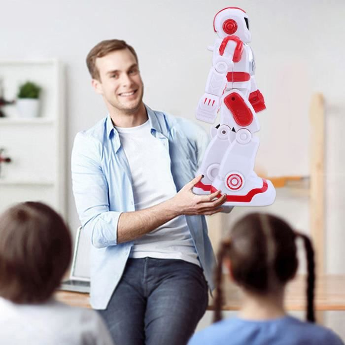 Zerodis Jouet robot intelligent Jouet éducatif de danse de chant de capteur de geste de robot intelligent de télécommande QI045