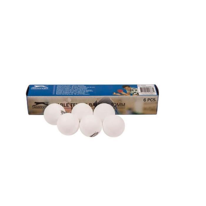 Lot de 6 balles de ping pong tennis de table de couleur blanche