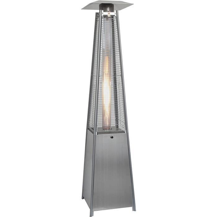 Appareils de chauffage extérieur Sunred Chauffage strah LER Accessoires Flame Tower Acier Inoxydable, Argent 201277