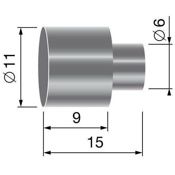 Butée de gaine, pour gaine de Ø: 9,5mm
