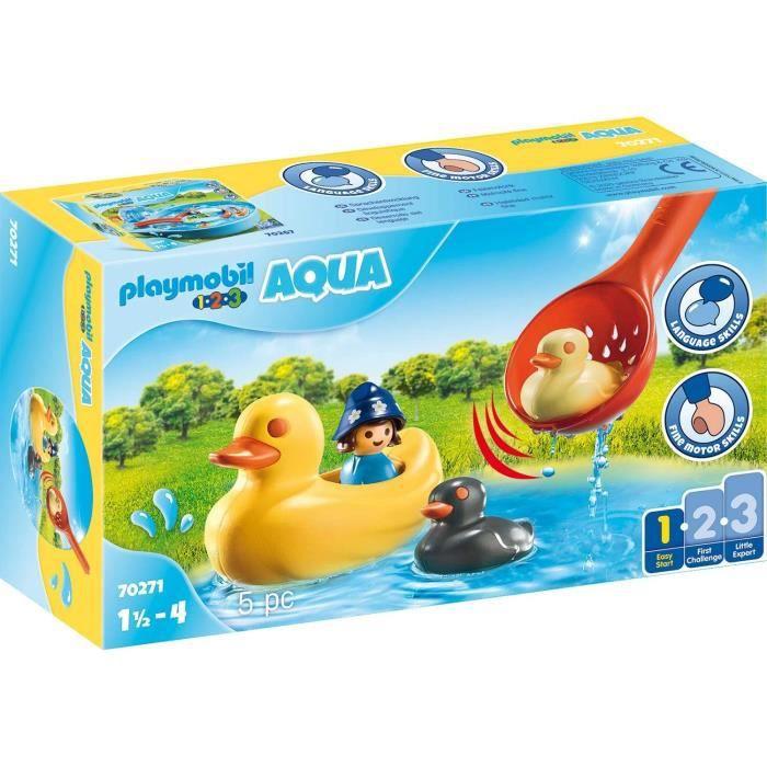 PLAYMOBIL 1.2.3 - 70271 - Famille de canards et enfant
