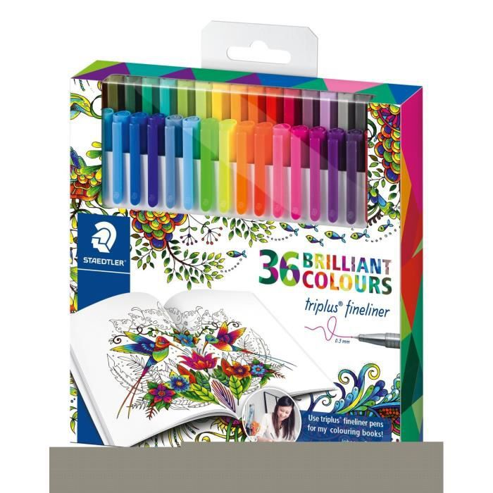 Triplus Johanna Basford Design Pen -- Assortis-Lot de 36: Fournitures de bureau