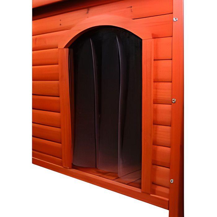 Porte en plastique pour niche Natura toit plat …