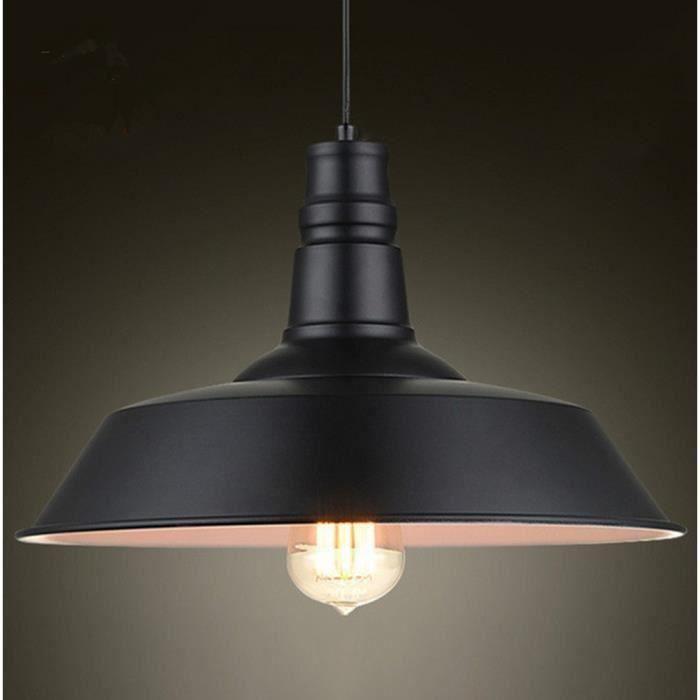 T&T Metal Retro Suspensions Luminaire Industriel Style Plafonnier Lustre Noir Plafond Luminaire Eclairage E27 Suspension Lumiaire