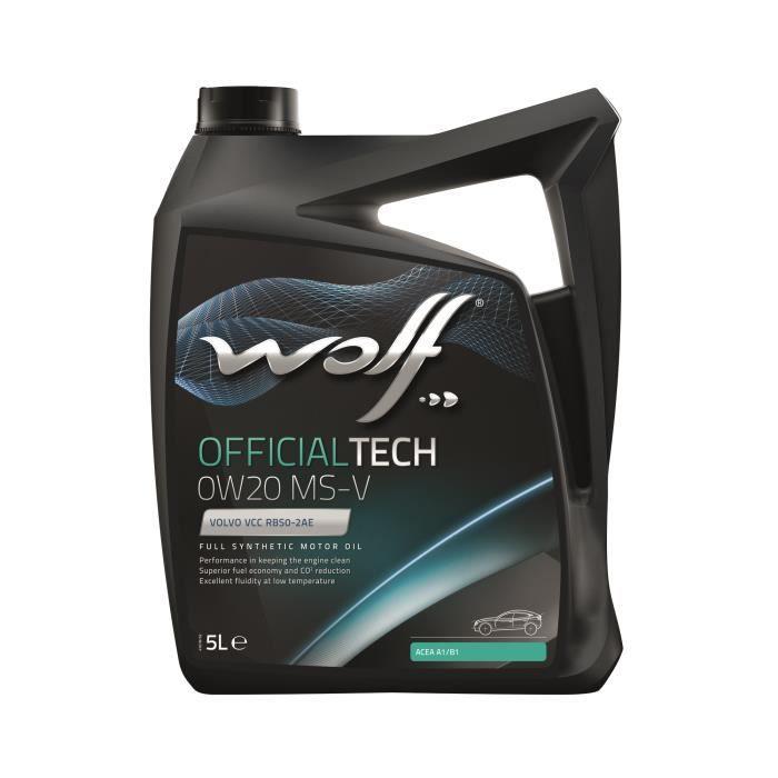 Bidon Officialtech 0W20 MS-V 5L Wolf 8332715