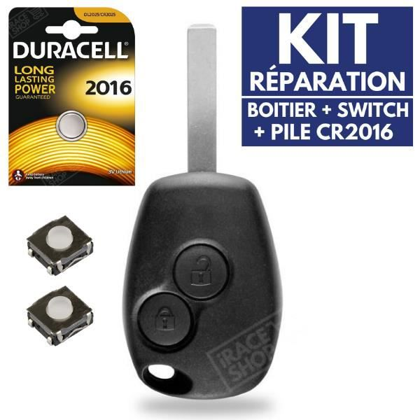 1 Switch bouton pour clé pliante télécommande plip Renault Clio Modus Kangoo ..