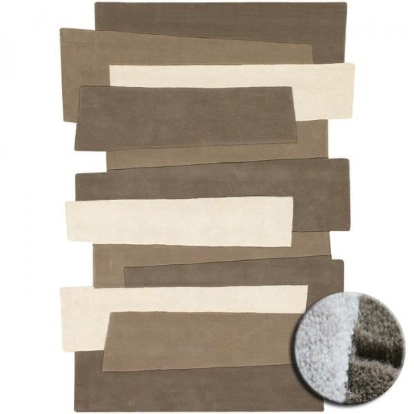 tapis contemporain en laine pebbles beige par a achat vente tapis cdiscount. Black Bedroom Furniture Sets. Home Design Ideas
