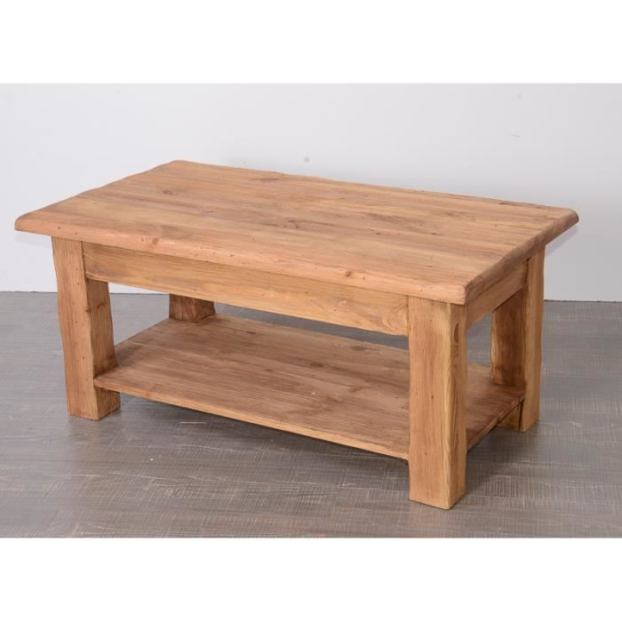 Table basse en pin massif 39 savoyard 39 achat vente table for Meuble pin massif