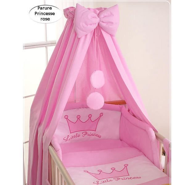 ciel de lit b b en tissu princesse rose achat vente ciel de lit b b 5908297423715 cdiscount. Black Bedroom Furniture Sets. Home Design Ideas