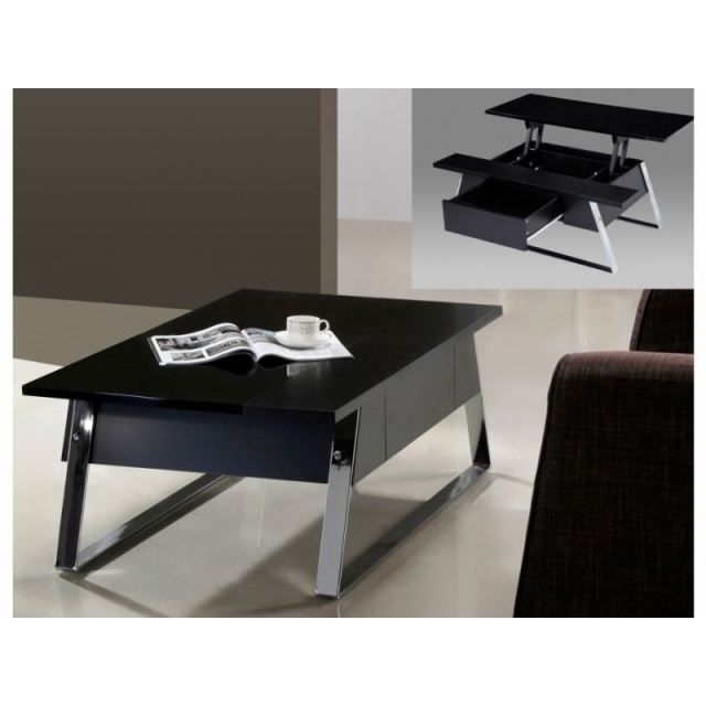 Table Basse open plateau relevable blanc 39.99€ @ Cdiscount