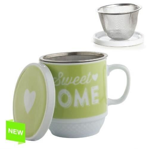 tasse tisana avec filtre metalique sweet home achat vente service th caf cdiscount. Black Bedroom Furniture Sets. Home Design Ideas