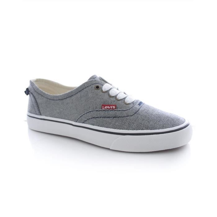 Basket Levi s ORIGINAL RED TAB SNEAKER LOW Gris Denim Gris Gris ... c7b7cf008495
