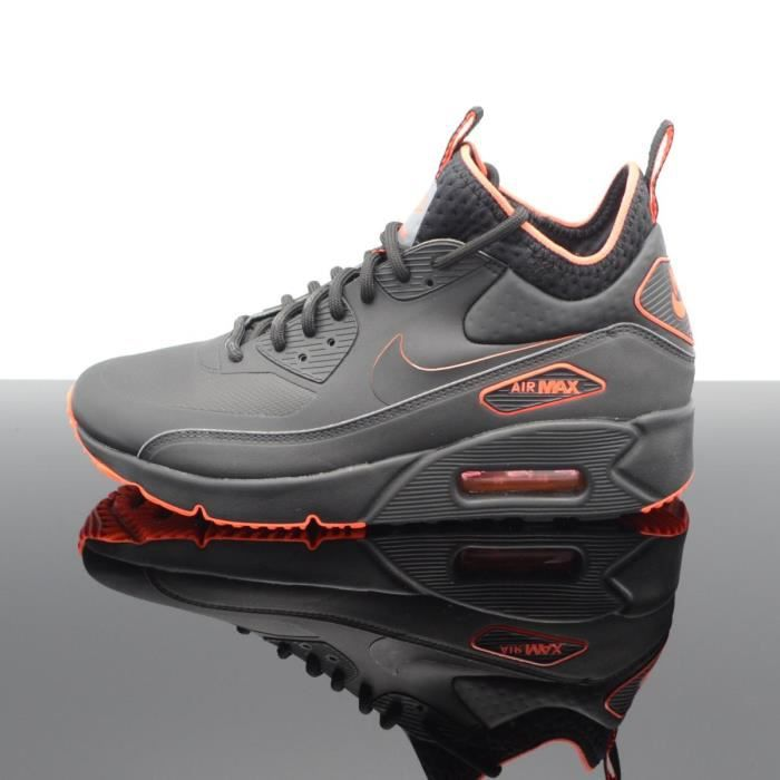 timeless design 39874 5a9a2 BASKET Nike Air Max 90 Ultra Mid Winter Noir-Orange Homme