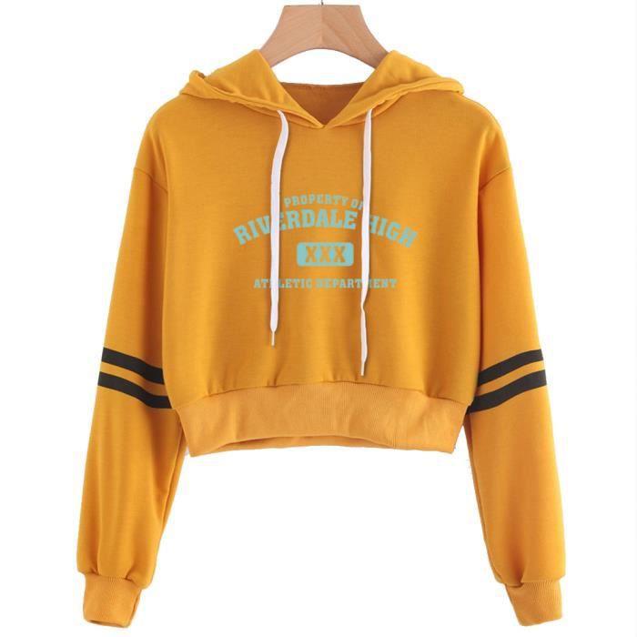 sweat shirt jaune femme