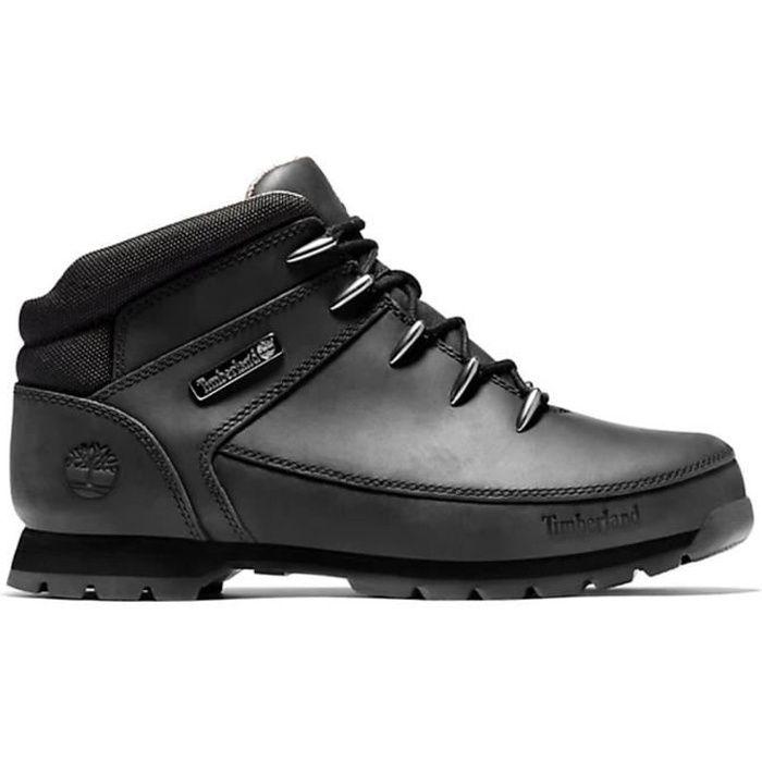 timberland euro hiker cuir noir