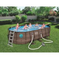 PISCINE BESTWAY Piscine ovale Frame Pool Swim Vista - 549