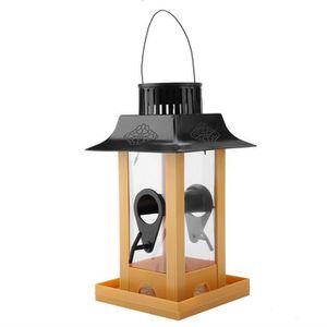 MANGEOIRE - TRÉMIE Mangeoire avec Lumière LED Solaire pour Oiseaux, C
