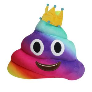 OREILLER New Coussin Emoji Yeux Amusing Coeur Poo Forme Cou