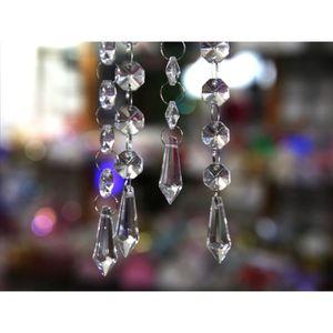Décors de table 50 Pampille goutte d'eau cristal Multi facettes dé