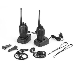 TALKIE-WALKIE 2 Pcs Baofeng 888 S Talkie Walkie 5 W 16ch Uhf Rad