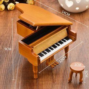 BOITE À MUSIQUE Boite À Musique en Bois Forme de Piano Pour Cadeau