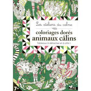 LIVRE 0-3 ANS ÉVEIL Livre - les ateliers du calme ; coloriages dorés a