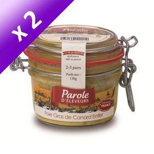 FOIE GRAS PAROLE D'ELEVEURS Foie Gras de Canard Entier - 130