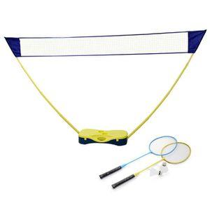 KIT BADMINTON Set de Badminton avec 1 filet,2 raquettes,2 volant