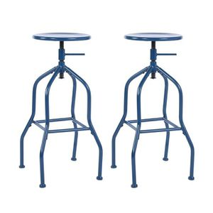MEUBLE BAR Lot de 2 Tabourets de Bar Chaisevintage industriel