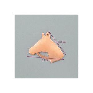PENDENTIF VENDU SEUL Pendentif en cuivre Tête de cheval 37 x 32 mm, éba