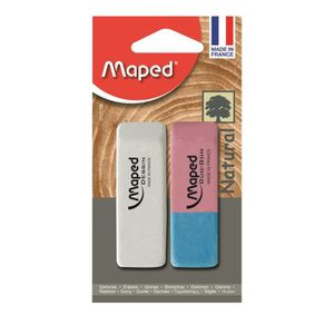 GOMME MAPED - Gomme dessin + duo gom blister