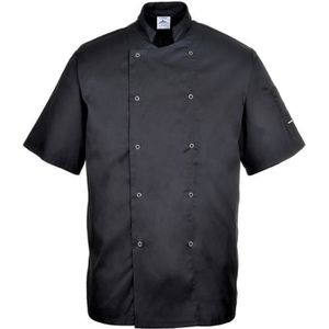 Isacco Veste Cuisinier Manches courtes Coreana Lavoro Blanc tricolore 100/% Coton