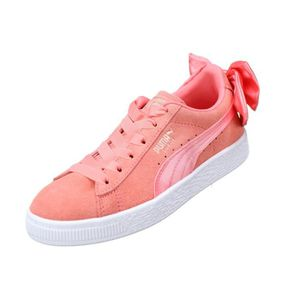 Basket Fille Puma Suede Bow Ac Ps 367318 - 01 S... Rose Rose - Achat ... 0b0172b40c1b