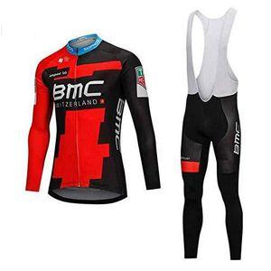 TENUE DE CYCLISME Bmc Maillot Cyclisme Manches Longues Hiver Tenue d
